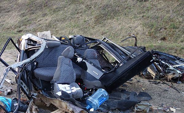 Натрассе М7 «Волга» столкнулись три фуры